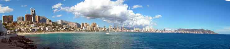 Panoramic view of Benidorm