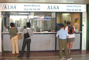 Alsa Bus ticket office, Cento Comercil La Nordia (Shopping Centre)