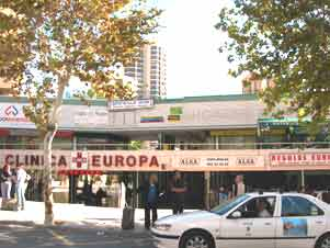 Europa shopping centre - location of Alsa ticket office