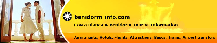 Costa Blanca & Benidorm Tourist Information - Apartments, Hotels, Flights, Attractions, Buses, Trains, Airport Transfers